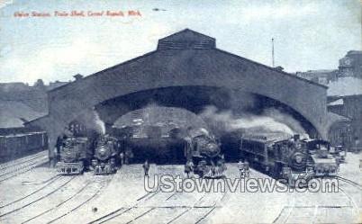 Union Station, Train Shed - Grand Rapids, Michigan MI Postcard