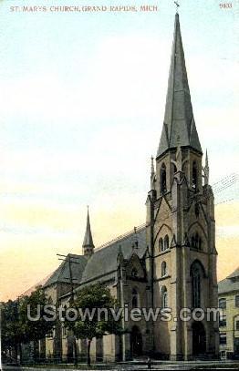 St. Mary's Church - Grand Rapids, Michigan MI Postcard