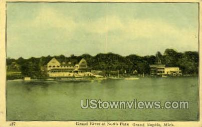 Grand River & North Park - Grand Rapids, Michigan MI Postcard