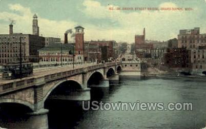Bridge Street Bridge - Grand Rapids, Michigan MI Postcard