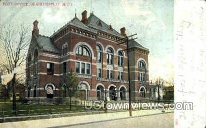 Post Office - Grand Rapids, Michigan MI Postcard