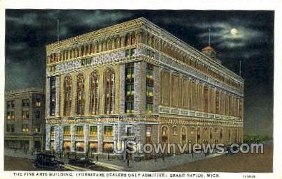 Fine Arts Bldg - Grand Rapids, Michigan MI Postcard