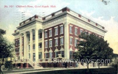 Children's Home - Grand Rapids, Michigan MI Postcard