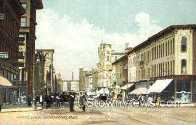 Monroe Street - Grand Rapids, Michigan MI Postcard