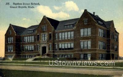 Sigsbee Street School - Grand Rapids, Michigan MI Postcard