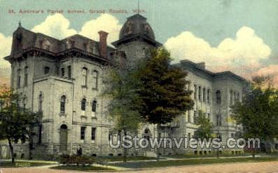 St. Andrew's Parish School - Grand Rapids, Michigan MI Postcard