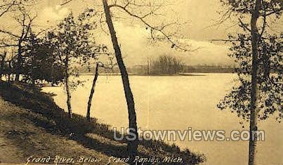 Grand River - Grand Rapids, Michigan MI Postcard