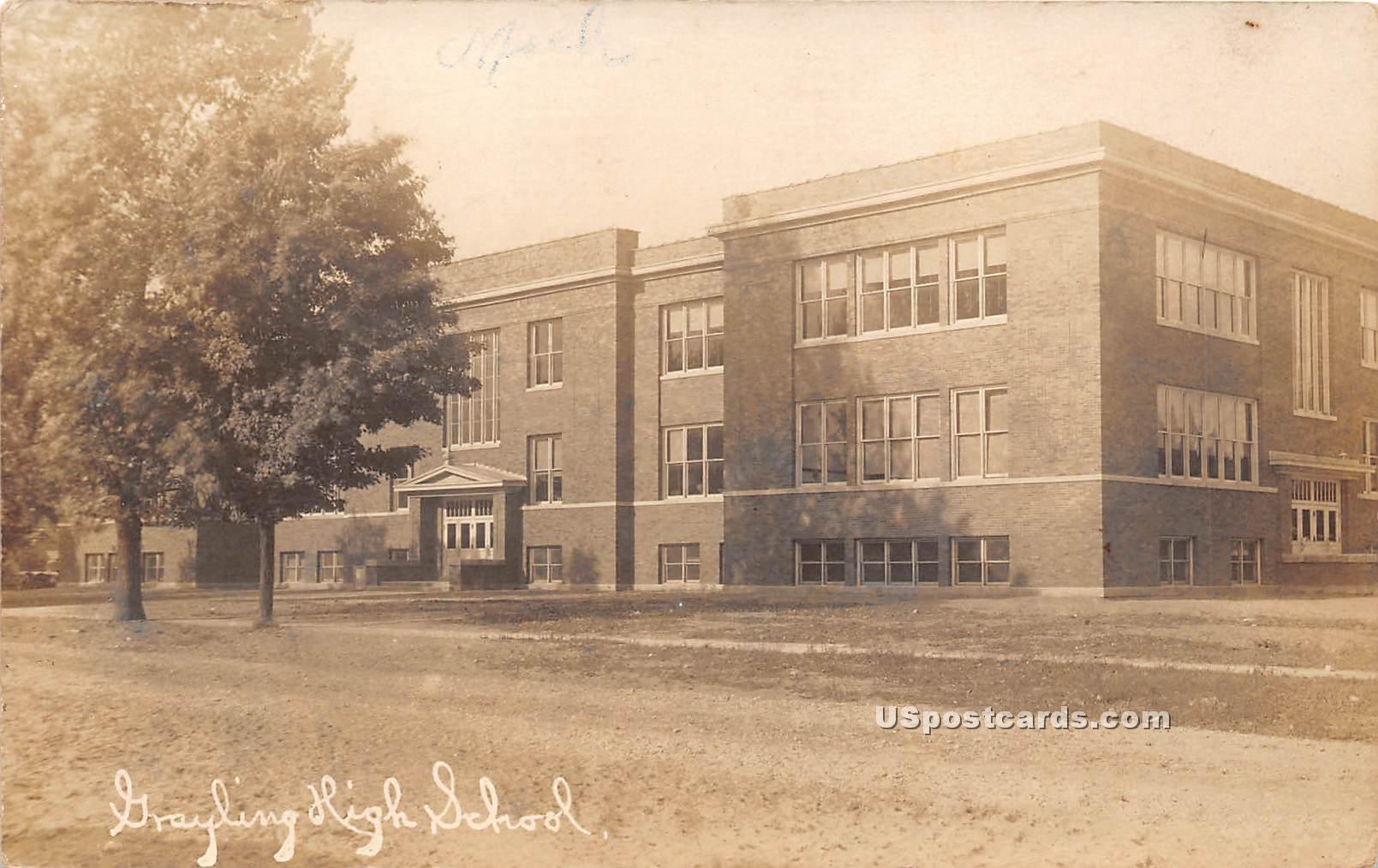 Grayling High School - Michigan MI Postcard