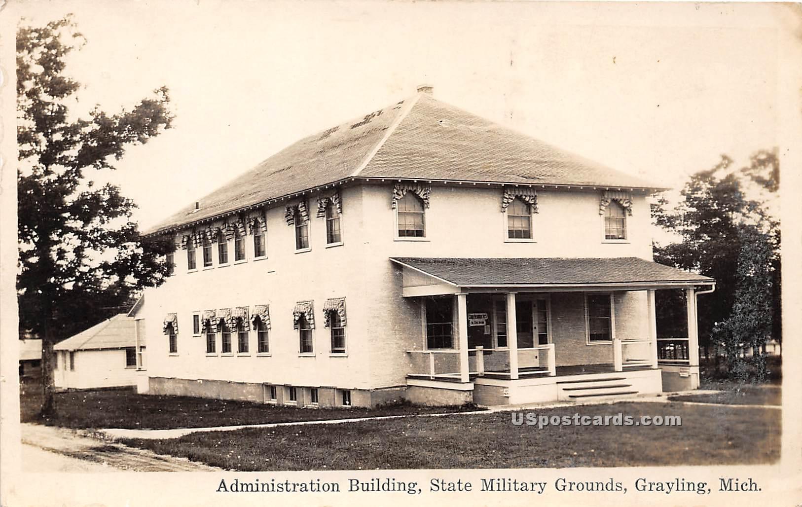 Administration Building - Grayling, Michigan MI Postcard