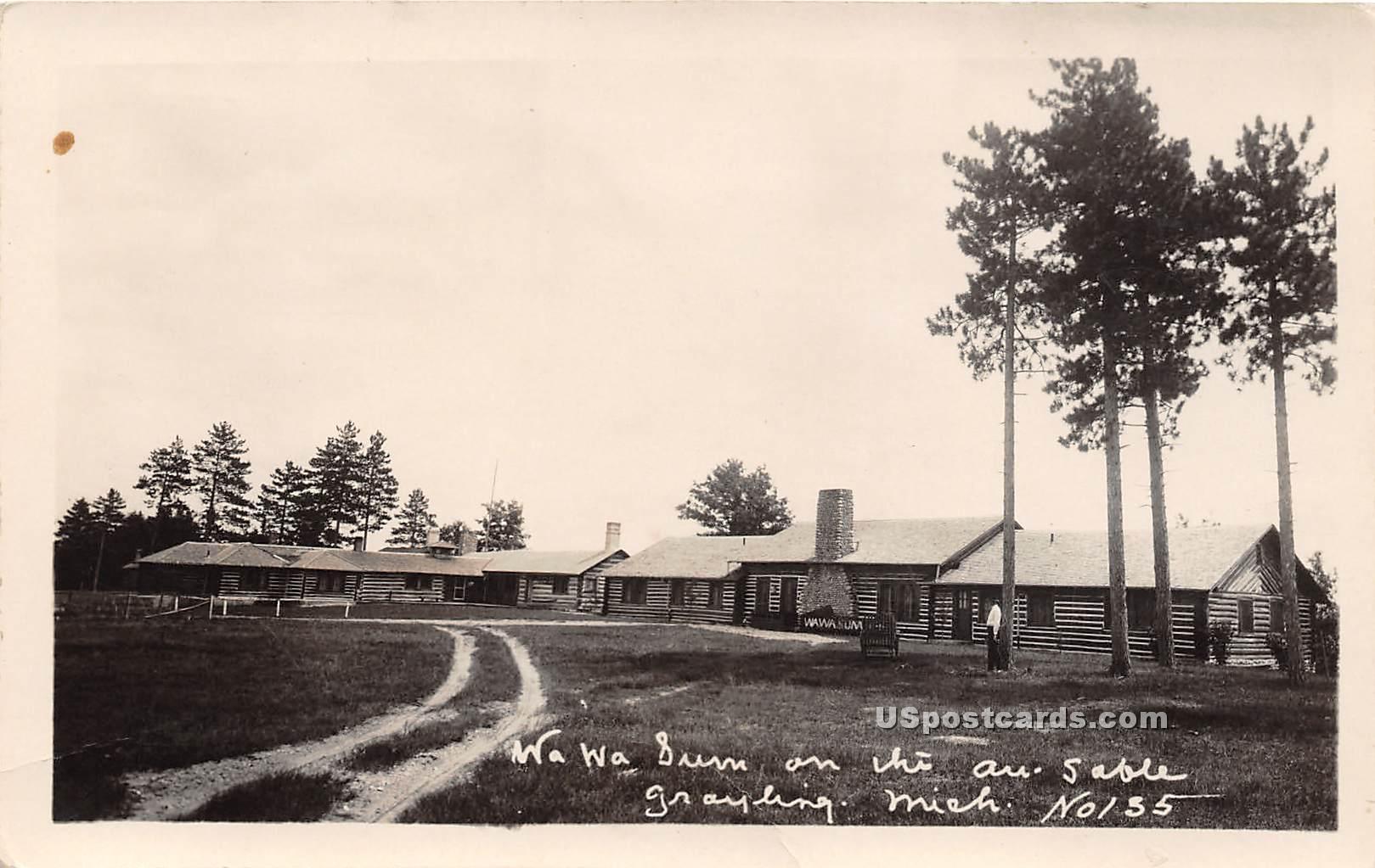 Wa Wa Sun - Grayling, Michigan MI Postcard