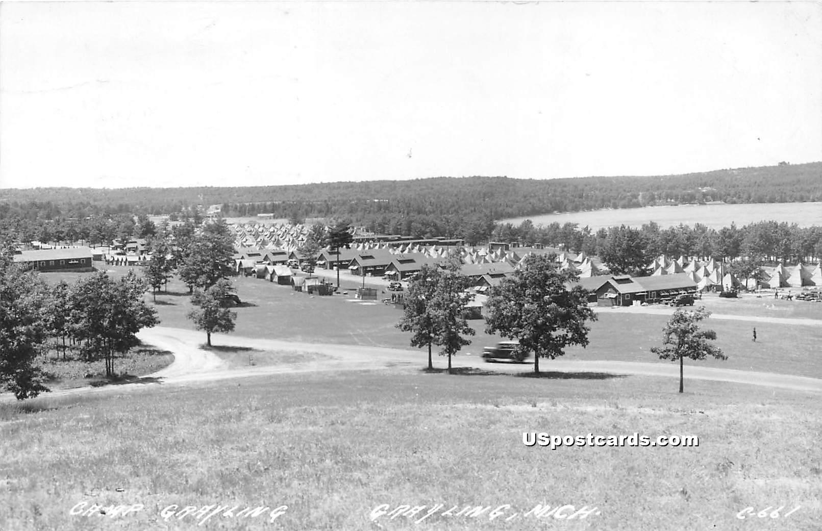 Camp Grayling - Michigan MI Postcard