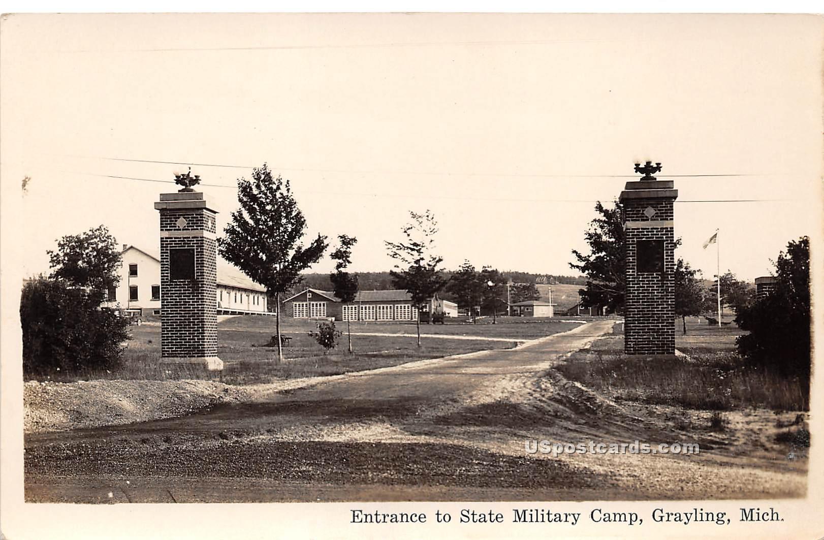 State Military Camp - Grayling, Michigan MI Postcard