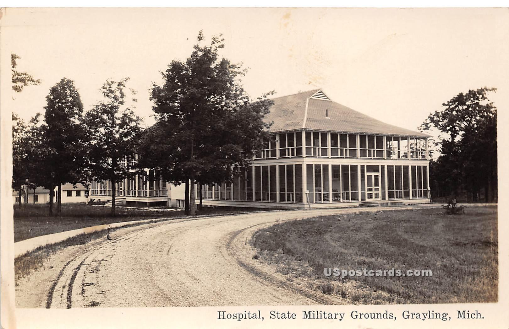 Hospital - Grayling, Michigan MI Postcard