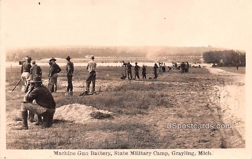 Machine Gun Battery - Grayling, Michigan MI Postcard