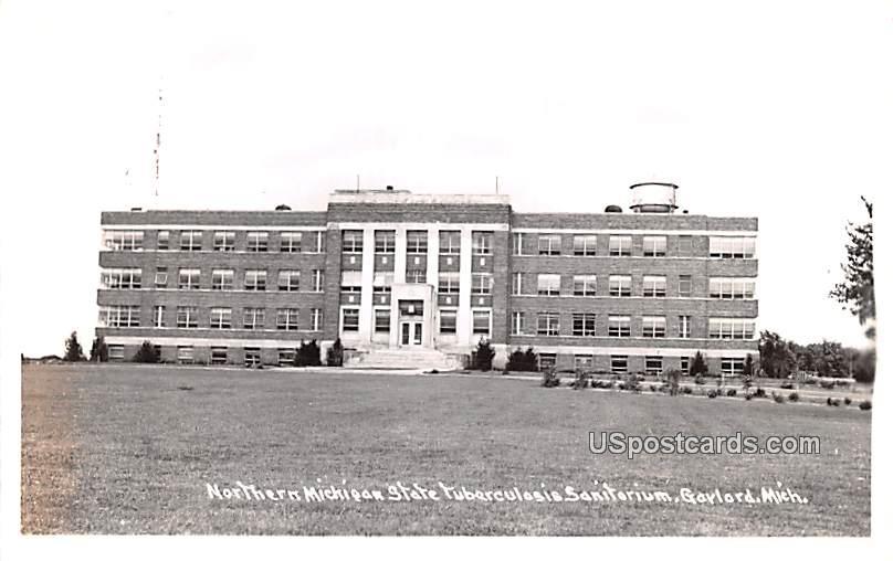 Northern Michigan State Tuberculosis Sanatorium - Gaylord Postcard