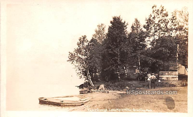 Camp Grounds - Grayling, Michigan MI Postcard