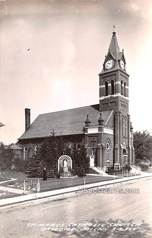St Mary's Catholic Church - Gaylord, Michigan MI Postcard