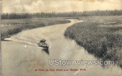 A view on Platt River  - Honor, Michigan MI Postcard
