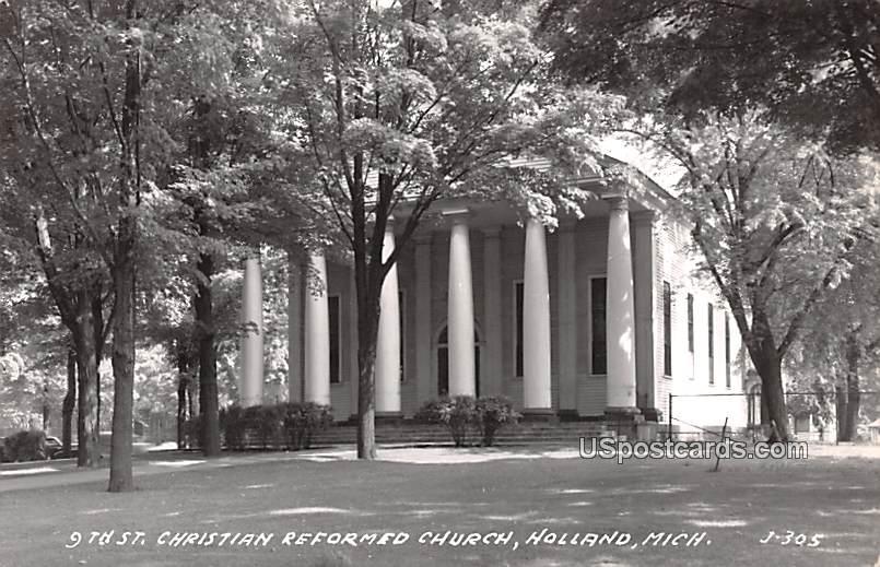 9th St Cristian Reformed Church - Holland, Michigan MI Postcard