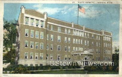 Foote Hospital - Jackson, Michigan MI Postcard