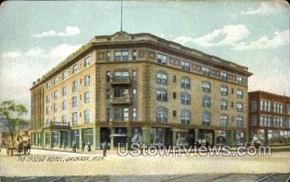 The Otsego Hotel - Jackson, Michigan MI Postcard
