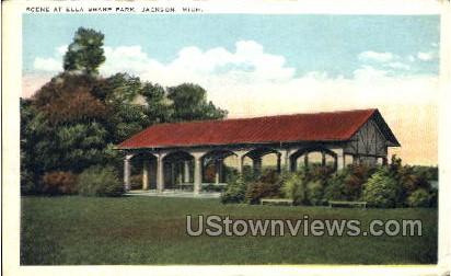 Scene at Ella Sharp Park - Jackson, Michigan MI Postcard