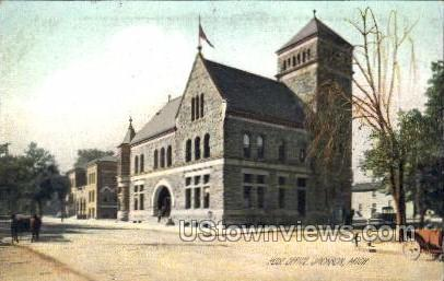 Post Office - Jackson, Michigan MI Postcard