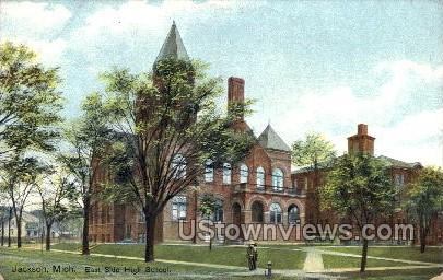 East side High School - Jackson, Michigan MI Postcard