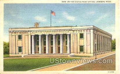 New United States Post Office - Jackson, Michigan MI Postcard