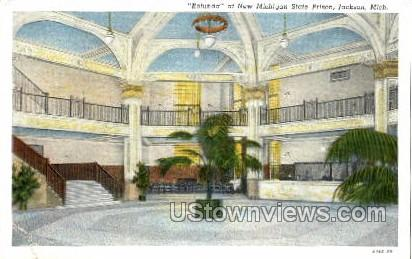 Rotunda at New Michigan State Prison - Jackson Postcard