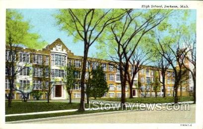 High School - Jackson, Michigan MI Postcard