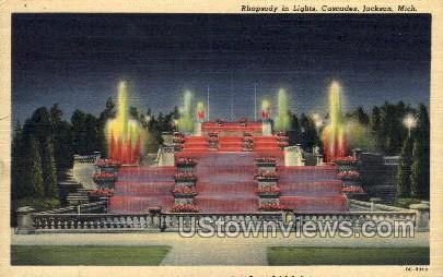 Rhapsody in Lights - Jackson, Michigan MI Postcard