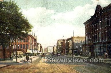 Main Street looking East - Jackson, Michigan MI Postcard