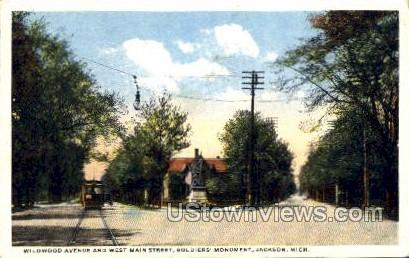 Wildwood Avenue - Jackson, Michigan MI Postcard