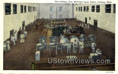 The Kitchen, New Michigan State Prison - Jackson Postcard