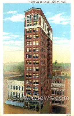 Reynolds Building - Jackson, Michigan MI Postcard