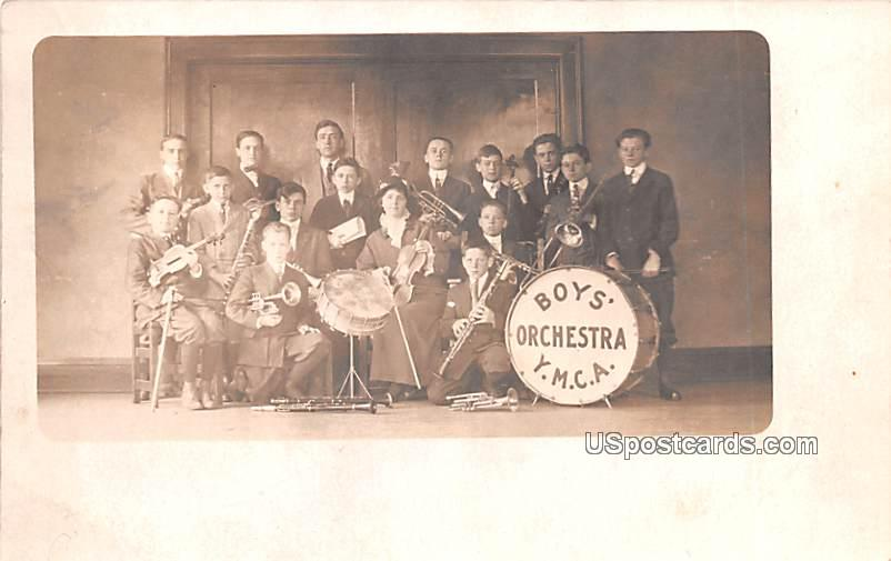 Boys Orchestra YMCA - Jackson, Michigan MI Postcard