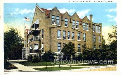 Bronson Hospital - Kalamazoo, Michigan MI Postcard