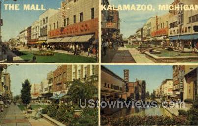 The Mall - Kalamazoo, Michigan MI Postcard