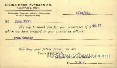Ihling Bros. Everard Co. - Kalamazoo, Michigan MI Postcard