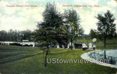 Corpus Christi Procession - Kalamazoo, Michigan MI Postcard