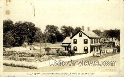 Sall Jordan Boarding House - Dearborn, Michigan MI Postcard