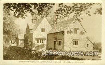 Cotswold Cottage Greenfield Village - Dearborn, Michigan MI Postcard
