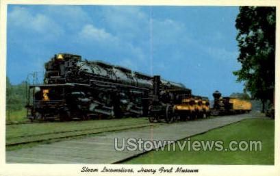 Steam Locomotives - Dearborn, Michigan MI Postcard