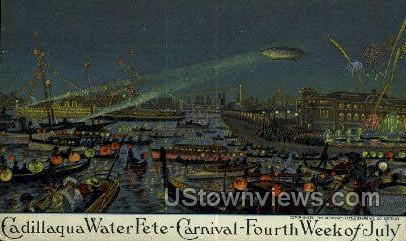 Cadillaqua Water Fete-Carnival - Detroit, Michigan MI Postcard