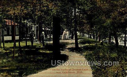 Banks of Crooked Lake - Kalamazoo, Michigan MI Postcard