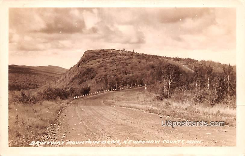 Brockway Mountain Drive - Keweenaw County, Michigan MI Postcard
