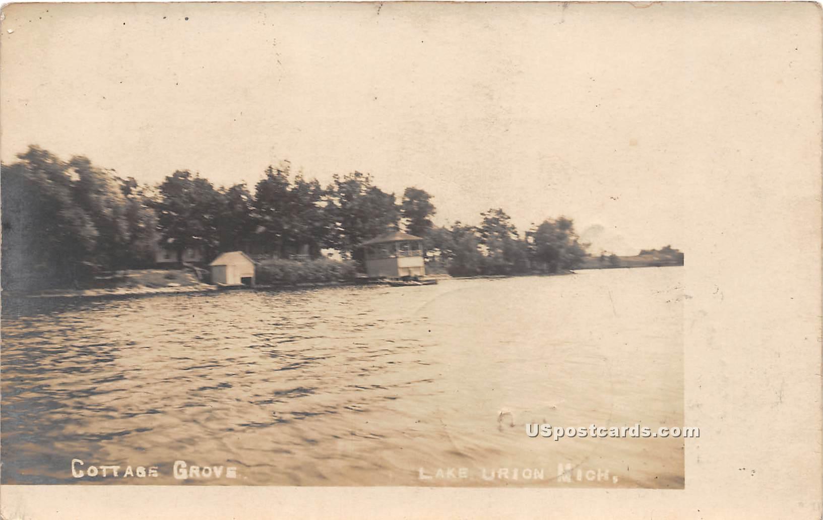 Cottage Grove - Lake Urion, Michigan MI Postcard