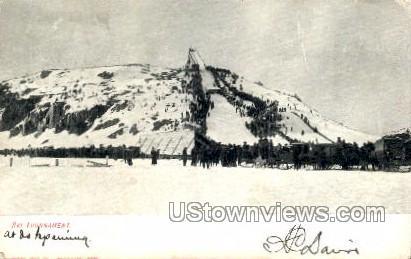 Ski Tournament - Marquette, Michigan MI Postcard