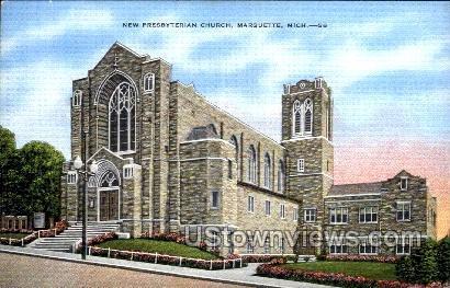 New Presbyterian Church - Marquette, Michigan MI Postcard
